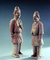 Colored Pottery figures of foreigners